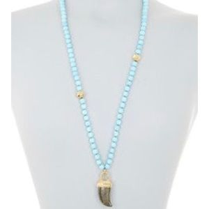 Pearl beaded Pyrite Stone Necklace